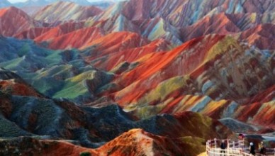 montagne colorée chine